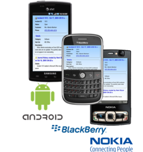Android, BlackBerry, Nokia