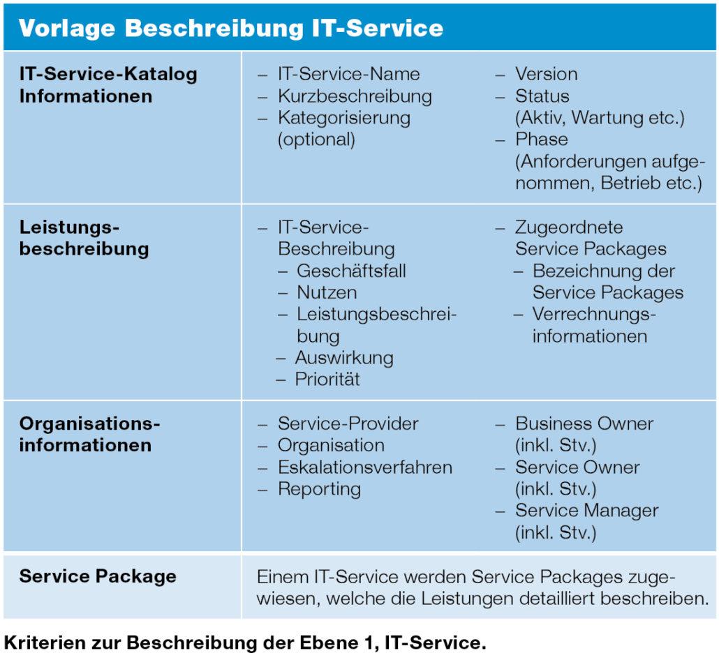 Beschreibung IT Service
