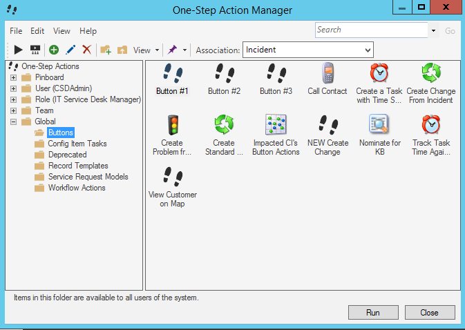 One-Step Action Manager